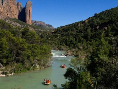 Rafting en el río Gallego Nivel Medio en Carcavila