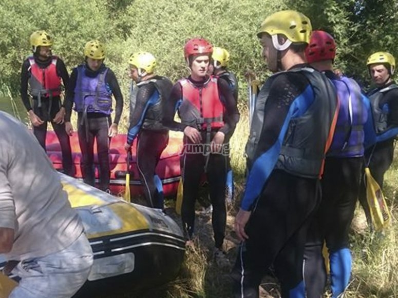 Preparing for a rafting route