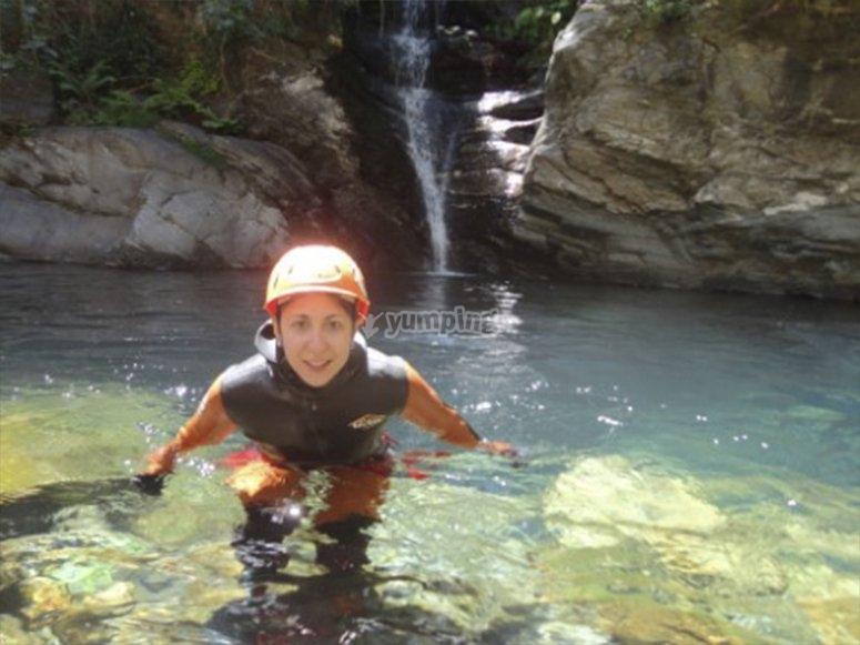 Nadando en pozas