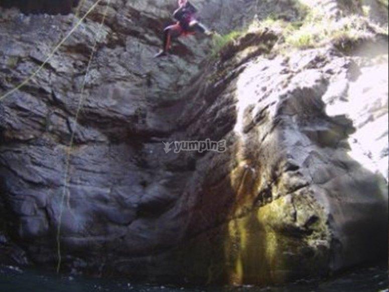 Saltando a piscinas naturales