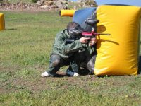 Enjoying a paintball game