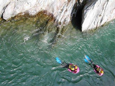 Hidrospeed en el río Noguera en Llavorsí 14 km