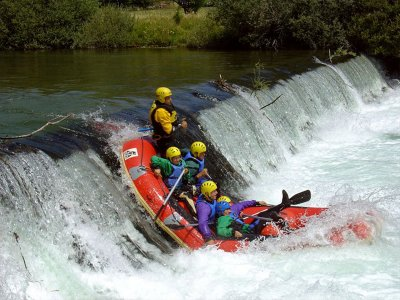 Rafting section of Es Bòrdes in the Aran Valley