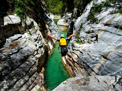 Canyoning in Valle de Luchon in the Pyrenees