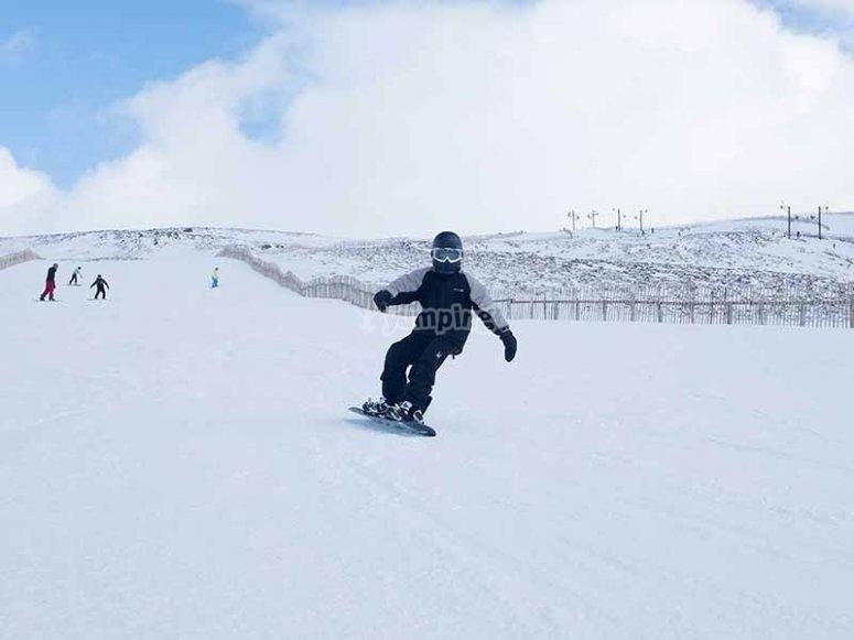 Snowboard en Navacerrada