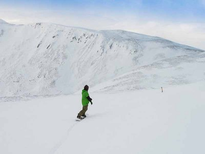Corso di snowboard per 4 persone Navacerrada 4 h