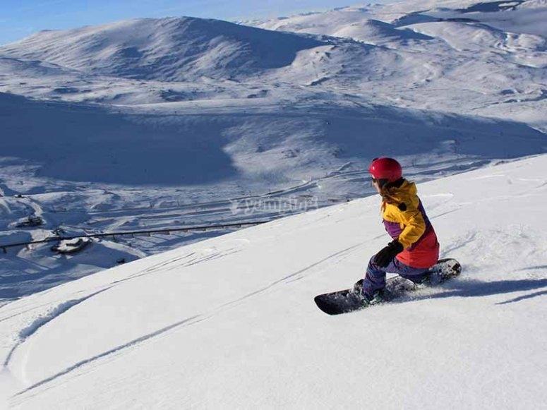 瓜达拉马山脉的滑雪板