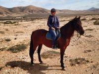 A caballo en los paisajes de Fuerteventura