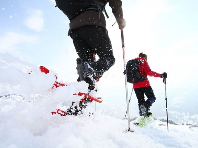 享受雪鞋徒步路线