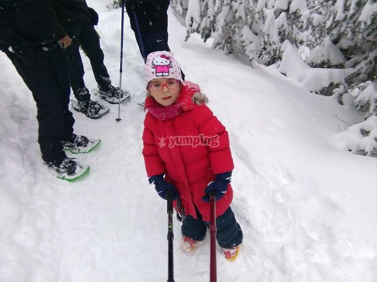 家庭雪鞋徒步