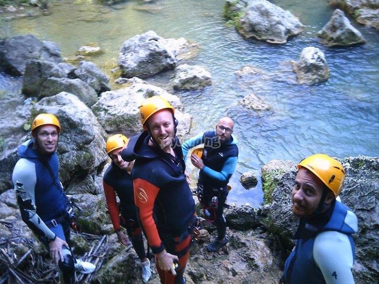 Con amigos en el cañón de las Buitreras