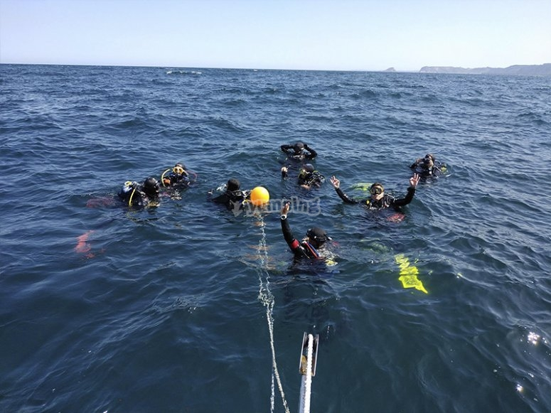 Preparato per il nostro corso di immersione