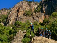 Company event doing canyoning