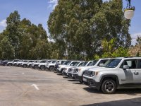 Fleet of jeeps for events