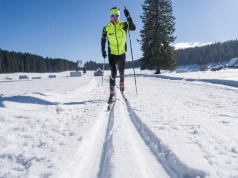 Cross-country skiing in Candanchú
