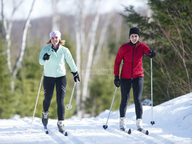 Taking cross-country skiing classes