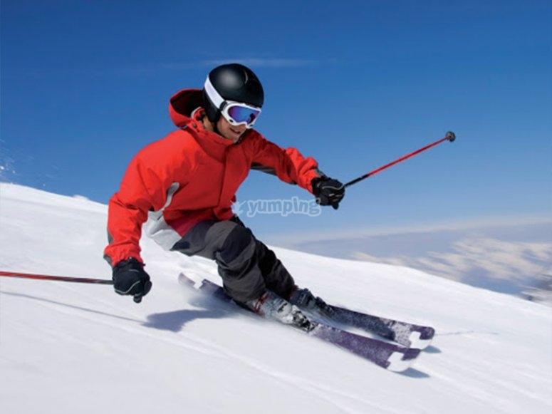 Enjoying a day skiing