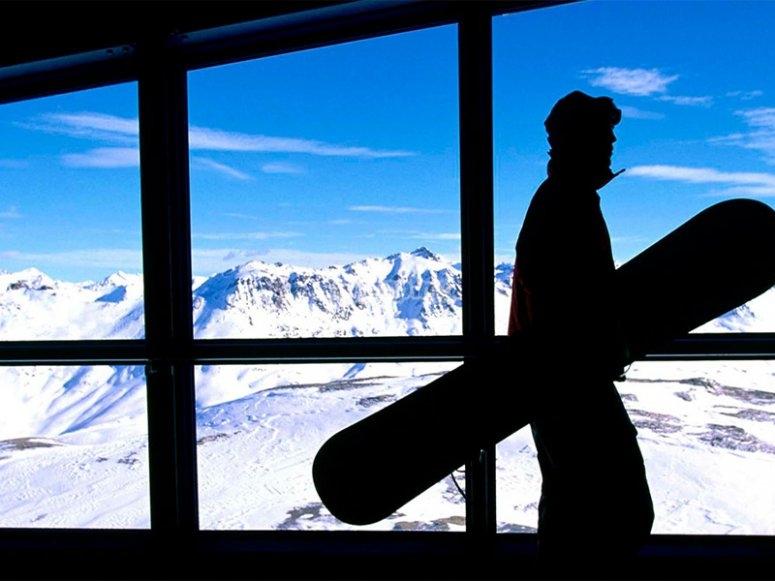 准备一天的滑雪