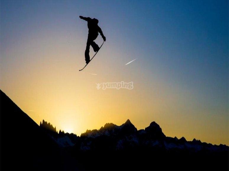 学习新的滑雪技巧