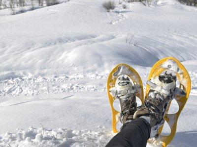 Collado de Aiguillette的雪鞋行走路线