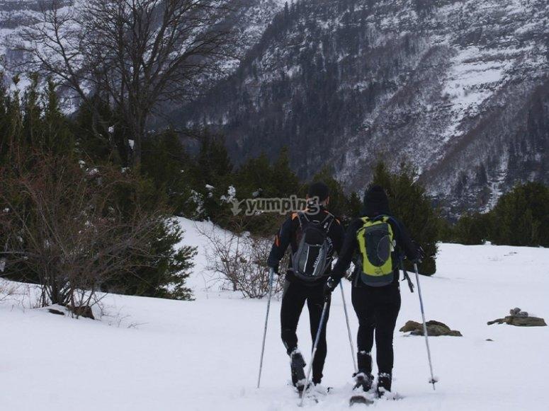 Raquetas de nieve en el Parque de Ordesa