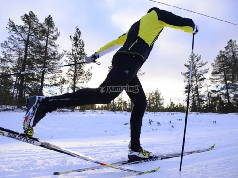 Route with cross-country skiing