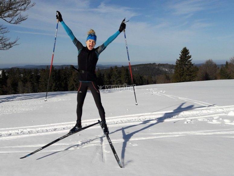 Cross-country skiing in Bielsa