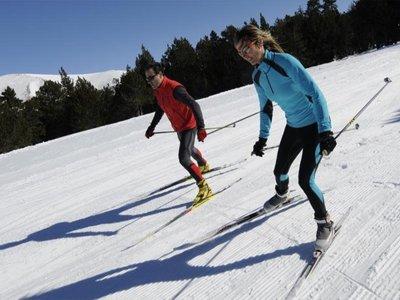 Bielsa的Pineta山谷的越野滑雪