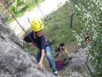 Probando la escalada al aire libre
