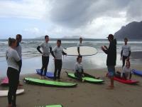 Campamento de surf en Teguise playa Famara 7 días