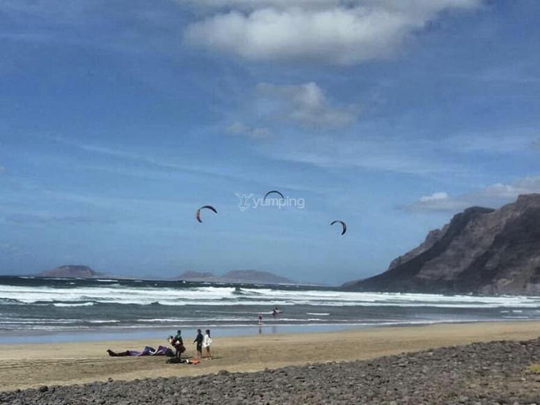 随时可以进行风筝冲浪的练习