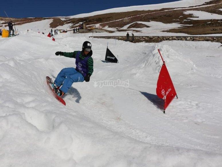 Snowboard in Brañavieja