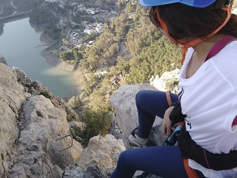 从 El Chorro ferrata 欣赏风景