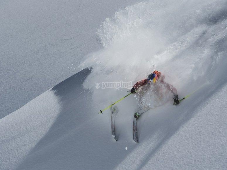 私人滑雪课练习