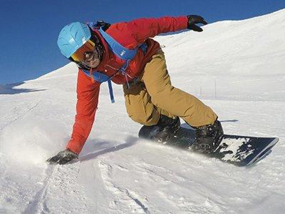 Baqueira Beret 4h的私人滑雪板课程