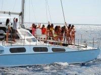 Paseo en catamarán y comida costa de Maspalomas 4h