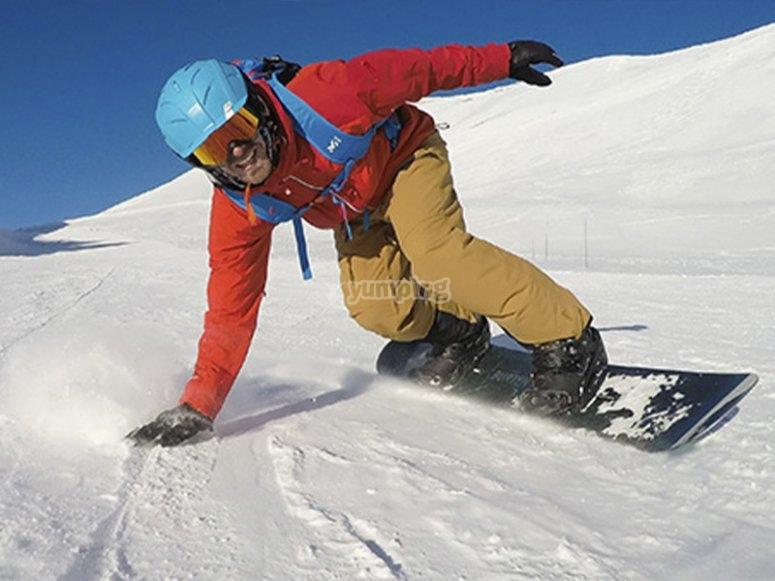 在Baqueira Beret的滑雪板