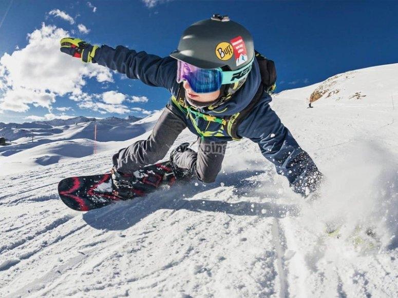 Día de snowboarding