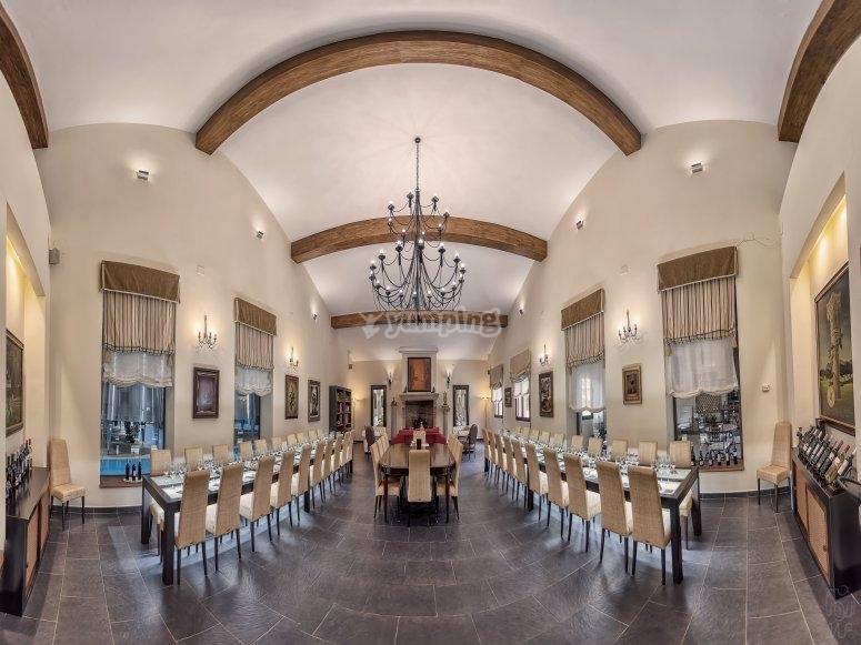 Sala para degustar vinos