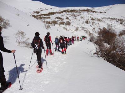 塞伦蒂诺斯(Salentinos)到塞拉吉斯泰多(Sierra Gistredo)的雪鞋行走