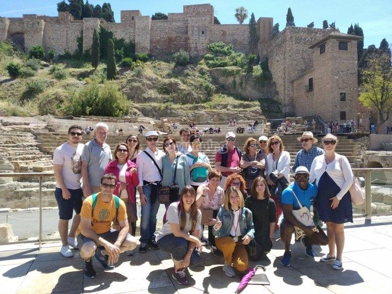 Grupo de tour por Málaga