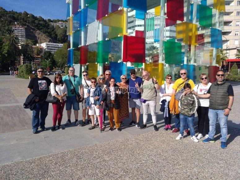 Grupo visita guiada por Málaga