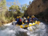 Between the white waters of the Valencian river