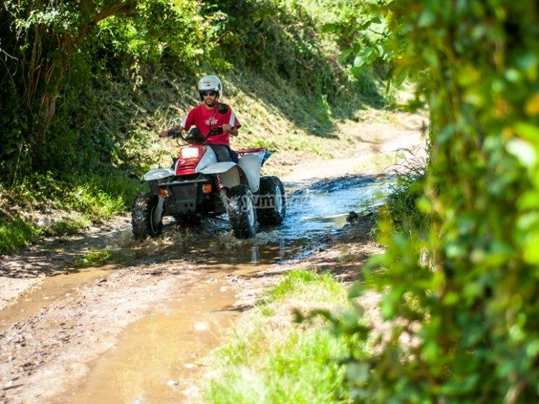 Riding a quad