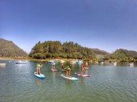 Alumnas de paddle surf