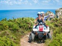 Two-seater quad route in cliffs of Ribadesella 1h