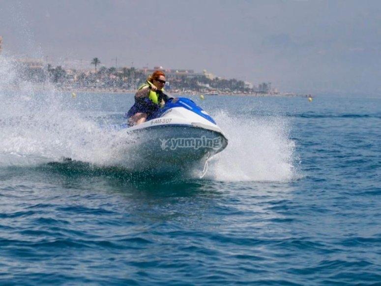 阿尔梅里亚的水上摩托艇