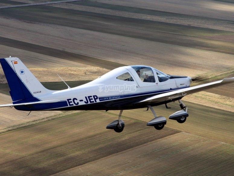 在飞机上测试飞行
