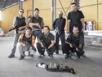 Group with grenades in urban combat