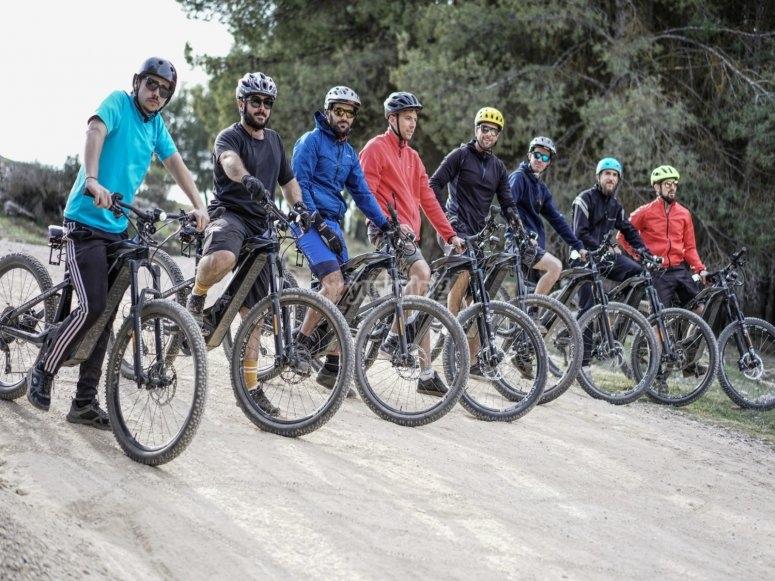 Percorso in bicicletta con gli amici